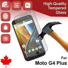 Motorola Moto G4 PLUS 4th Gen + Premium Clear Tempered Glass Screen Protector