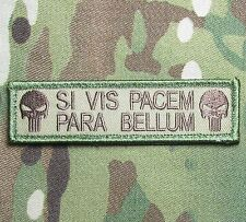 SI VIS PACEM PARA BELLUM PUNISHER TACTICAL USA ARMY MORALE MULTICAM VELCRO PATCH