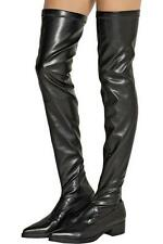 Stella McCartney Black Overknee Thigh High boots UK7 EU40 RRP660GBP