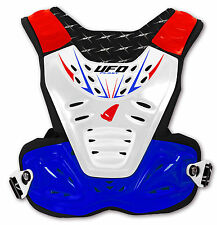 Ufo Reactor 2 Motocross Chest and Body Protector for use with neck brace Blue x