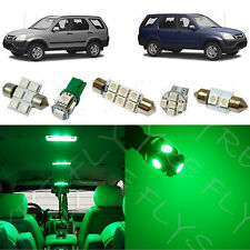 6x Green LED lights interior package kit for 2002-2006 Honda CR-V HV2G