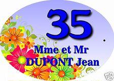 PLAQUE NUMERO DE MAISON ou BOITE AUX LETTRES EXTERIEUR réf 05 choix inscription