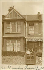 Dollis Hill near Willesden. 36 Burnley Road. Card written by C.L.P.