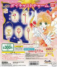 BANDAI Card Captor Sakura Die Cast Charm Keychain Gashapon (Set of 5) Wand Star
