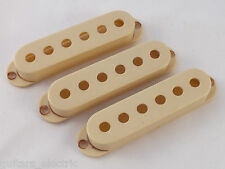 Vintage Relic AGED WORN WHITE PICK UP COVERS 52mm to fit Stratocaster guitars