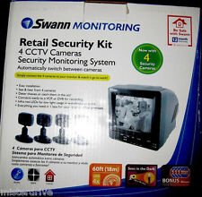Swann  Retail Security Monitor Kit 4 CCTV Cameras Security Monitoring System  A4