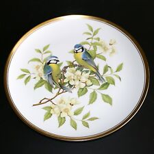 SPODE GARDEN BIRDS SERIES FINE BONE CHINA DISPLAY PLATE BLUE TITMOUSE No.1