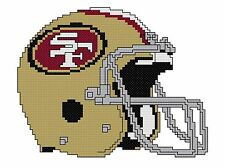 Counted Cross Stitch Pattern, San Francisco 49ers Helmet - Free US Shipping
