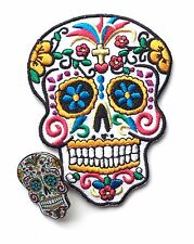Dia de los Muertos (Day of the Dead) Candy Mask Embroidered Patch + Badge (C2)