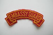 #6742 EMBASSY GUARD Word Tag Embroidery Sew On Applique Patch