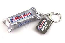 American Candy 3D LED Light Torch Keychain - Mini Flashlight. 3 Musketeers