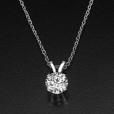 2 Carat Solitaire Round Black Friday Diamond Pendant Necklace D/SI1 950 Platinum