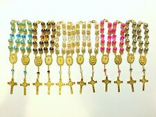 Rosary - bracelet - St BENEDICT Car crucifix rosary- car auto rosary lot of 12