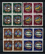 Switzerland 1968 SG#759-762 Pro Patria Stained Glass Windows Used Set #A58578