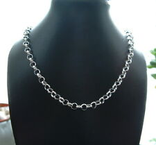 925 Sterling Silver hallmarked belcher neck Chain 22in long necklace gift
