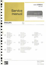 Philips  Original Service Manual für  22 RB 212