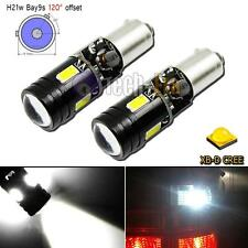 2x Error Free White Bay9s H21W 64136 CREE XB-D LED Bulbs for VW CC Backup Lights