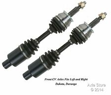 2 New Front CV Axles Left and Right With Warranty Fit Dakota Durango