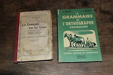 Lot 2 livres scolaires anciens - Français Nathan Hachette Bouillot Denève