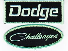 DODGE CHALLENGER BLACK GREEN SEW/IRON ON PATCH EMBROIDERED HEMI MOPAR CAR