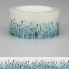 Lavender Flower Washi Paper Masking Tapes Adhesive Decorative Tape 10m*20mm