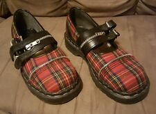 TUK SHOES/ WOMENS MARY JANES/ PLAID CAP TOE Made in UK PUNK OI SKA/DR. MARTEN