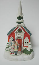 Vintage Christmas Church with Carolers Village Decoration