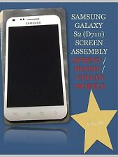 OEM SAMSUNG GALAXY-S II D710 EPIC TOUCH WHITE FULL SCREEN ASSEMBLY WITH FRAME