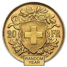 Swiss 20 Franc Gold Coin - Random Year Coin - SKU #19