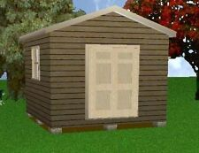 12x12 Storage Shed Plans Package, Blueprints, Material List & Instructions