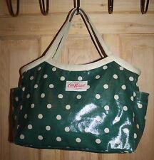 Cath Kidston Green Oilcloth Handbag - Polka Dot Design