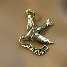 9 ct GOLD  new solid dove of peace charm
