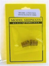 Model Shipways Fittings MS 0360 Wood Bucket, 15/32 (12mm) 2/pack)  NEW.