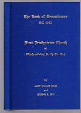 The Book of Remembrance 1862-1962: First Presbyterian Church, Winston-Salem, NC