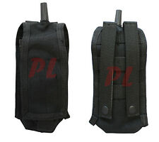 Molle Pals Radio Pouch Walkie Talkie Radio Antenna Carrier Pouch L or R-BLACK