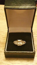 STERLING SILVER  925 ENGAGEMENT RING WITH  CUBIC ZIRCONIA STONE SIZE N