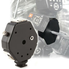 Triple 3 Heads Hot Shoe Mount 3in1 Speedlite Flash Light Umbrella Holder Bracket