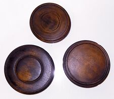 Antique Japanese Carved Light Wood Stand Display LOT 3 Signed Antique 3 to 4inch