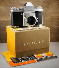 Beautiful PENTACON camera PRAKTICA IV with E. LUDWIG MERITAR 50mm F/2.9 * BOXED