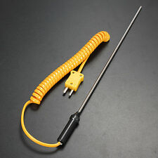 K-Type Thermocouple Probe Stainless Steel Sensors Temperature Measurement 700℃