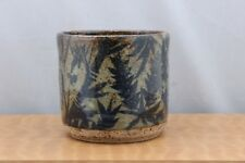 Studio Pottery Tea Bowl Bamboo Ceramic Art Japanese Pacific Northwest n9