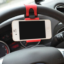 Universal Car Steering Wheel Mount Phone Holder for Iphone 5 5S 4 HTC Samsung