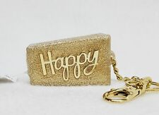 Bath & Body Works HAPPY Gold Glitter Pocketbac Holder Clip Case Sanitizer Sleeve