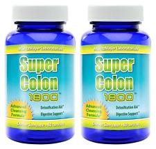 2X Super Colon Cleanse 1800 Maximum Body Cleansing Detox Weight Loss Capsules