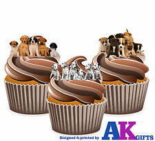 Cute Puppies Puppy Dogs Birthday Party 12 Cup Cake Toppers Edible Decorations