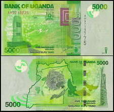 Uganda 2010 Five Thousand 5000 Shillings UNC (P-51)