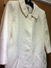 BNWT ELEGANT TU CREAM TAILORED FLORAL TEXTURED JACKET COAT UK 14 - WEDDING SMART