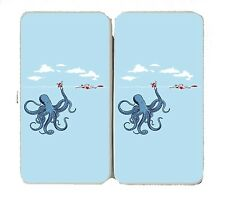 """""""Octotrap"""" Octopus Tricking Lifeguard Humor - Womens Taiga Hinge Wallet Clutch"""