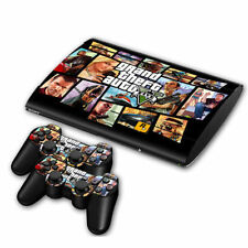 Super Skin Sticker Cover Decal For PS3 PlayStation Slim 4000 + 2 Controllers #33