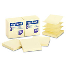 Post-it Pop Up Memo Pad, 3 x 3, Yellow, 100 Sheets, PK - MMM6549PUY